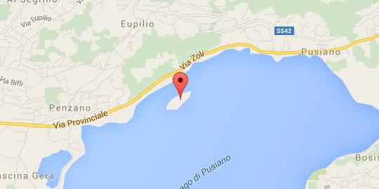 Isola dei Cipressi - Pusiano - Mappa
